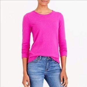 J. Crew Neon Pink Merino Wool Sweater